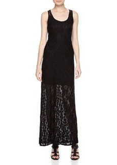 Laundry By Design Floral Lace-Overlay Maxi Dress, Black