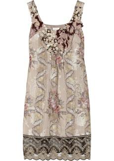 Anna Sui Embellished jacquard dress