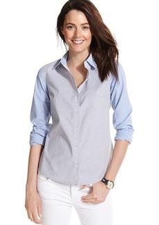 Tommy Hilfiger Colorblocked Chambray Shirt