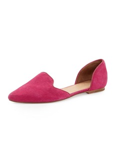 Joie Florence Suede d'Orsay Flat, Bougainvillea Pink