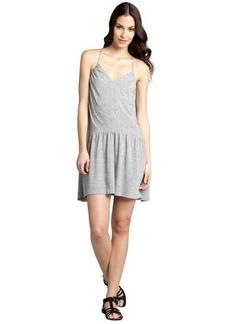 Rebecca Taylor heather grey linen blend drop waist racerback dress