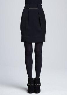 Lafayette 148 New York Alaina Golden-Chain Pleated Skirt