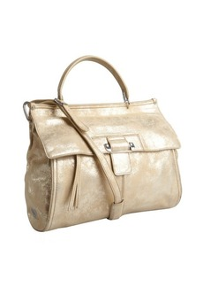 Kooba light gold metallic leather 'Aiden' convertible satchel