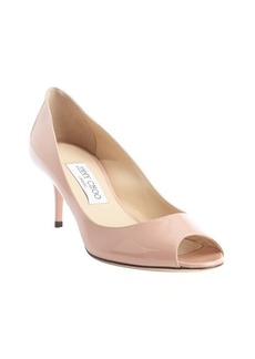 Jimmy Choo blush leather peep toe 'Isabel' pumps