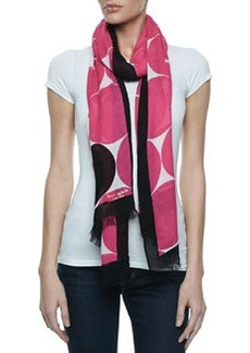 kate spade new york deborah dot-print scarf, pink/black