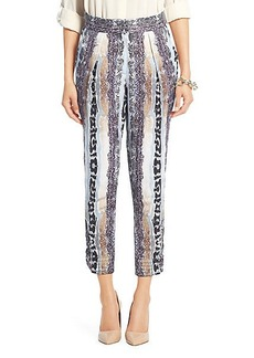 Atlas Printed Linen Relaxed Trouser