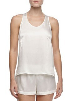 Studio Dolce Sleeveless Silk Tank, Ivory   Studio Dolce Sleeveless Silk Tank, Ivory