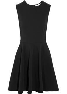 Diane von Furstenberg Jeannie pleated jersey-crepe mini dress