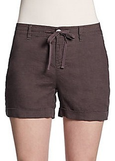 Saks Fifth Avenue BLUE Linen Drawstring Shorts