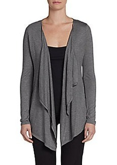 Joan Vass Studio Open Draped Cardigan