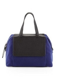 L.A.M.B. Angel Two-Tone Combo Satchel Bag, Blue/Black