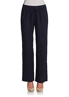 Ellen Tracy Drawstring Linen Pants