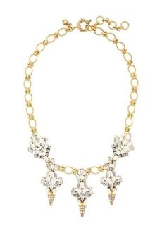 Crystal and pearl chandelier necklace