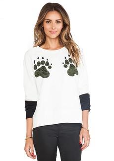 Tibi Paw Sweatshirt in White