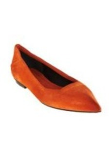 Costume National Distressed Ballet Flat