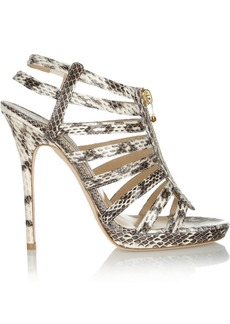 Jimmy Choo Glenys elaphe sandals