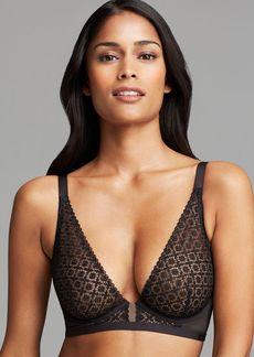 Calvin Klein Underwear Bra - Black Shadow Longline Unlined Underwire Plunge #F3790