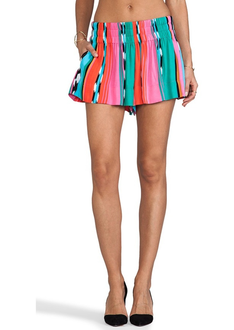 Ella Moss Surfer Stripe Shorts in Pink