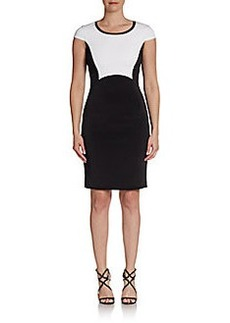 Elie Tahari Two-Tone Crepe Dress