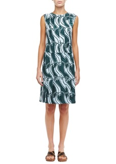 Marc Jacobs Printed Paneled Pleat Dress