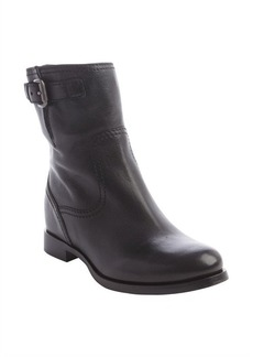 Prada black leather buckle strap ankle boots