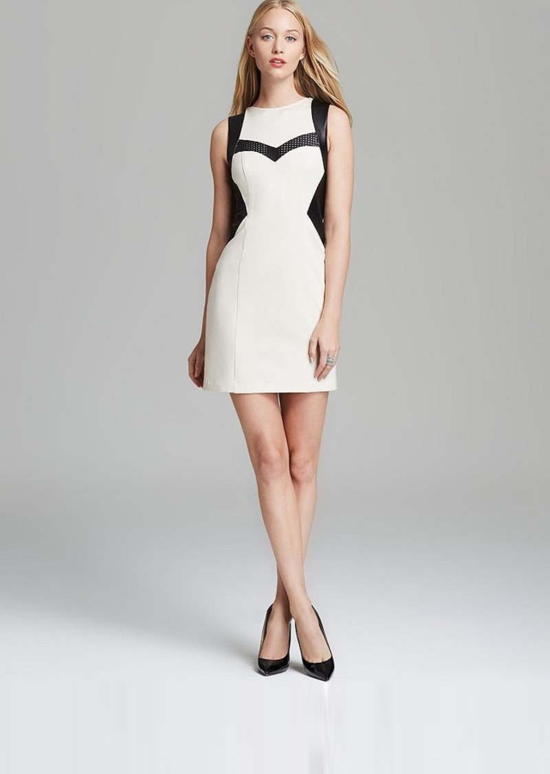 Nanette Lepore Leather Ponte Dress - Rio Grande