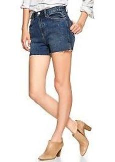 1969 raw-edge high-rise denim shorts