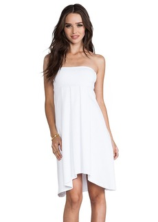"Susana Monaco Tube 22"" Dress in White"