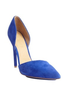 L.A.M.B. royal blue 'Faith' textured leather pumps