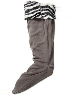 Betsey Johnson Women's Fur Cuff Knee Length Welly Sock