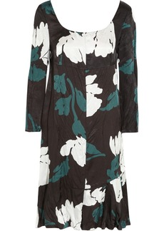 Marni Printed satin-twill dress