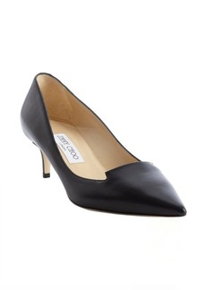 Jimmy Choo blac leather pointed toe 'Allure' kitten pumps