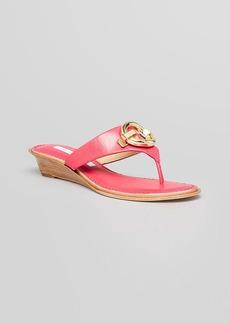 DIANE von FURSTENBERG Thong Demiwedge Sandals - Tiles