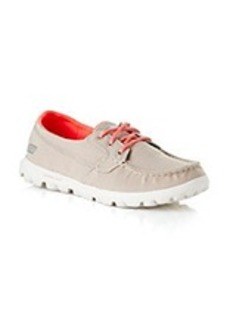"Skechers® ontheGO ""Unite"" Athletic Boat Shoes - Natural/Pink"