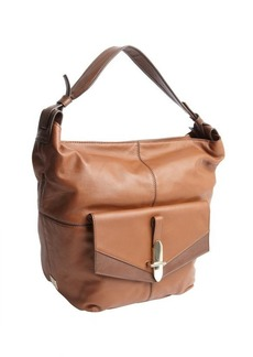 Kooba luggage brown leather 'Bedford' flap pocket shoulder bag
