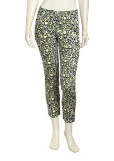 Lafayette 148 New York Printed-Jersey Knit Pants, Black Multi