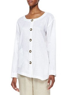 Go Silk Linen Asymmetric Shirt, Women's