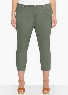 Levi's® Plus Size Mid-Rise Skinny Cropped Jeans, Olive Forest Wash