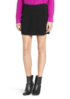 Brindy Pleated Silk Skirt