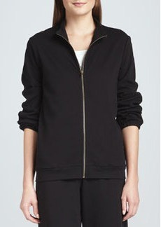 Joan Vass Interlock Stretch Zip-Front Jacket, Women's