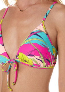 Roxy Island Dreams Boost Tie D-cup Bra Bikini Top - Women's