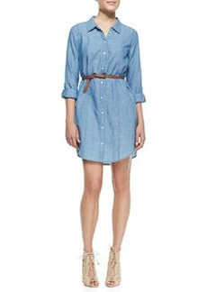 Tarellia Long-Sleeve Denim Shirtdress   Tarellia Long-Sleeve Denim Shirtdress