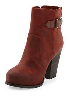 Pelle Moda Fine Suede Ankle Boot, Rust