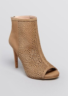Stuart Weitzman Open Toe Booties - In and Out Perforated High Heel