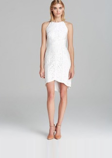 Cynthia Steffe Dress - Ryder Sleeveless Floral Lace with Leather