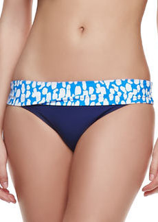 Splendid Coastal Contrast-Band Swim Bottom
