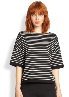 Lafayette 148 New York Striped Knit Top