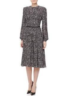 Michael Kors Appaloosa Silk Georgette Printed Dress