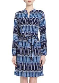 Laundry by Shelli Segal Elongated Oval-Print Sheath Dress, Blue Beret