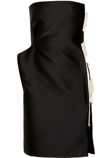 Lanvin Bow-embellished silk-satin dress